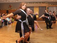 Contestants in the opening dance in the St Brendan's Hurling Club Strictly Come Dancing at Ballyroe Heights Hotel on Saturday. Photo by Dermot Crean