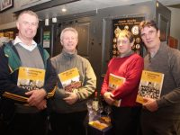 Morgan O'Connell, Eamonn O'Reilly, Eamonn Linnane and Mike Casey at the launch of 'A Centenary History' of Austin Stacks GAA Club in the clubhouse at Connolly Park on Friday night. Photo by Dermot Crean
