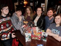 ITT Sci-Fi Society members Michael Edgar, Jon Ahgaine, Megan Doyle, Sally Griffin, Ronan McLoughlin and Jane O'Brien at the Star Wars table quiz in The Abbey Inn on Thursday night. Photo by Dermot Crean