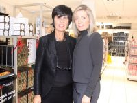 Helen Parker and Sandra Rusk at their Fashion and Beauty night in CH Chemists on Friday. Photo by Dermot Crean