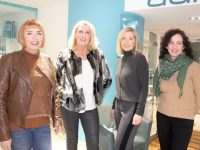 Wardrobe's Sandra Rusk (second from right) with models Tish O'Flaherty, Pauline Gleasure and Catriona Mehigan at the Fashion and Beauty night in CH Chemists on Friday. Photo by Dermot Crean