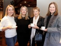 Sarah Collins, Aedemar O'Regan, Eilish Hayes and Sharon Hayes at the fundraising coffee morning in The Meadowlands Hotel on Saturday. Photo by Dermot Crean