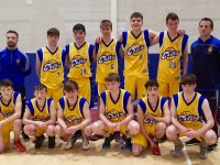 The CBS The Green U16 team with coaches Dale Counihan and Ruairi O'Rahilly.