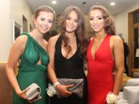 Femma Lynch, Mia Duggan and Tirna Brosnan at the Gaelcholáiste Chiarraí students' Debs Ball at Ballyroe Heights Hotel on Tuesday night. Photo by Dermot Crean