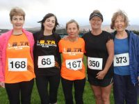 Noreen Quirke, Rita Ryan, Carmel Foran Carmel Hubbard, and Joan Griffin at the Kerins O'Rahillys 10k run on Sunday morning. Photos by Lisa O'Mahony.