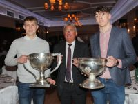 Cillian Spillane, Ogie Moran, and David Clifford at the Kerry GAA Supporters Club Social on Saturday night. Photo by Lisa O'Mahony.