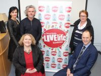 Looking forward to the Donal Walsh Livelife Foundation Film Competition were, seated; Chairperson Marketing Committee Chapter 23 of Kerry and West Limerick Credit Union, Helen Courtney Power and Manager of Bons Secours Hospital Tralee, TJ O'Connor. Back from left; Mary Lucey, LiveLife Film Competition, Maurice Galway, Judge of LiveLife Film Competition and Elma Walsh of Donal Walsh LiveLife Foundation. Photo by Dermot Crean