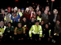 A large group at the Mercy Mounthawk YSI students Family First Canal Walk on Friday night. Photo by Dermot Crean
