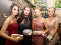 Katelyn Cashman, Seniz Kuccuk, Fiona O'Shea and Kasia Bella at the Mercy Mounthawk Students' Debs Ball at Ballyroe Heights Hotel on Thursday night. Photo by Dermot Crean