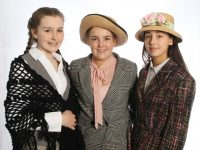 Cast members in Mercy Mounthawk's production of 'My Fair Lady' Hannah Tansley, Ailise Ryan and Grainne Raggett.