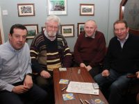 Morgan Sheehy, John Herlihy, Ger Donnelly and Pat Sheehy at the Scór fundraising table quiz at Na Gaeil GAA Club on Friday night. Photo by Dermot Crean