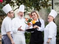 "No repro fee 11-1-2018 Picture shows from left to right Darren Brady, Commis Chef Apprentice, the Redbank; Terry McCoy, proprietor,  the Redbank;  Agnieszka Niedzielak, Commis Chef apprentice, Jurys Inn Christchurch; and Darina Brennan, Executive Chef, Dalata Hotel Group at the launch of the National Commis Chef Apprenticeship Programme. The industry-led programme, the only one of its kind in the country, provides aspiring chefs with the opportunity to ""earn and learn"". It is supported by the Irish Hotels Federation, the Restaurants Association of Ireland, Fáilte Ireland, Education Training Boards and SOLAS.Pic:Naoise Culhane-no fee"