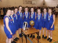 The Presentation U16 team who won the Subway Schools U16B All Ireland title on Wednesday. Photo by Dermot Crean