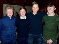 Jack Walsh, Luke Bishop, Bela Winde and Daithi O'Regan at the Tralee Rowing Club social at O'Donnells Bar on Saturday night.