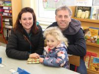 Jenny Pye and Alex and Sadie O'Donovan at the St John's Parochial School Open Day  on Saturday. Photo by Dermot Crean
