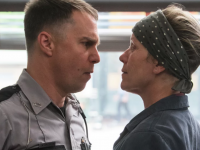 "Sam Rockwell and Frances McDormand in ""Three Billboards..."""
