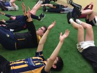 Juvenile hurlers being put through their paces at Strength and Conditioning Training