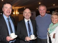 Declan Crowe, AIB, Aidan Kelly, Tralee Chamber Alliance, Brian Hold and Marian Sugrue at the Health and Wellbeing Event in the Ashe Hotel on Thursday. Photo by Lisa O'Mahony.