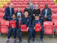 NO REPRO FEES - The annual Show Racism the Red Card awards ceremony Tuesday, 2nd May, at 11.45am at Tallaght Stadium, Whitestown Way, Tallaght, Dublin 24.Show Racism the Red Card is a charity that uses sports and the high profile of sportspeople to tackle racism.  The organisation holds an annual creative competition, calling on young people to develop creative messages about racism and integration.Photo:Barry Cronin/www.barrycronin.com 087-9598549
