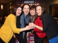 Helena Clifford, Fidelma Dillon, Margaret Cahill and Geraldine Lennon contestants in the Ardfert NS 'Lip Sing Battle' at the launch of the event at Ballyroe Heights Hotel on Thursday evening. Photo by Dermot Crean