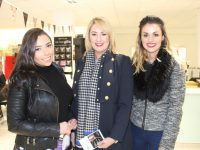 Mary Brosnan, Jeanette Brosnan and Aifric Rice at Michelle Regazolli Stone's Make-up Masterclass at CH Chemists on Saturday. Photo by Lisa O'Mahony.