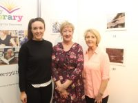 Catherine Dolan (centre) with guest speaker Aisling O'Sullivan of Tralee Physiotherapy and Pilates Clinic and Audrey Moran of Tralee/West Kerry Branch of Multiple Sclerosis at the official opening of Catherine Dolan's 'Nature' Photography Exhibition in Tralee Library on Tuesday evening. Photo by Dermot Crean