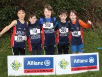 Scoil Eoin NS boys at the Allianz Cumann na mBunscol Kerry Primary Schools Cross Country event at Caherslee on Thursday afternoon. Photo by Dermot Crean