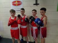 Young boxers at the Kerry County Championships last Sunday at Tralee Boxing Club.