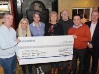 At the presentation of the cheque to Pieta House, the proceeds of last May's Darkness Into Light event, were Kieran O'Brien, Pieta House, Marilyn O'Shea, DIL Tralee, Anne O'Shea, DIL Tralee, Pat Turner, DIL Tralee, Martin Brosnan, DIL Tralee, Aidan O'Sullivan, DIL Tralee and Con O'Connor, Pieta House. Photo by Dermot Crean