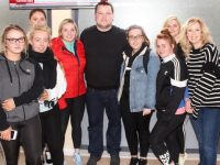 John Connors with KCFE students. Photo by Dermot Crean