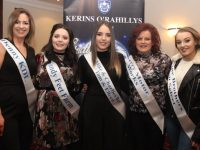 Brenda O'Regan, Claire Goodall, Cliodhna Hayes, Mags Bowler and Zoe Riordan Donnelly contestants in Kerins O'Rahillys GAA 'Strictly Club Dancing'. Photo by Dermot Crean