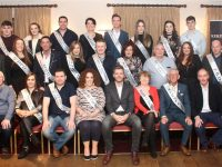 The contestants with committee members and main sponsor Nathan McDonnell of Ballyseedy Home & Garden Centre in Kerins O'Rahillys GAA 'Strictly Club Dancing'. Photo by Dermot Crean
