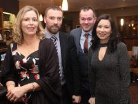 Anne and Joe Murnane with John and Anne Stack at the Kilmoyley GAA Club Social on Saturday night at the Ballyroe Heights Hotel. Photo by Dermot Crean