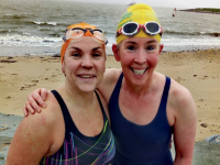 Elaine Burrows Dillane and Mags O'Sullivan of Tralee Bay Swimming Club.