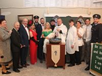 The cast of 'One Murder And A Christening' at Na Gaeil GAA Club on Saturday night. Photo by Dermot Crean