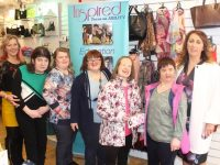 Maree O'Connor, Maeve O'Connor, Labhaoise O'Connor, Sinead Joy, Denise O'Mahony, Breda O'Sullivan and Eileen Whelan of Paco at the Paco Coffee Morning/Fashion Show in aid of Inspired on Friday morning. Photo by Dermot Crean