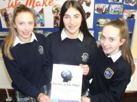 Presentation students Rachel Kilgallen, Erin Moss and Kate Hennessy who have created 'Remain In My Mind', a book designed to help people with Alzheimer's and dementia. Photo by Dermot Crean