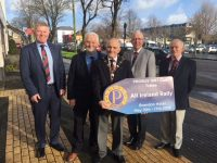 Launching the upcoming PROBUS event in May were, from left; Billy Myles, Brendan Dinneen, Liam Sayers (President PROBUS 1997 Club), John Murphy and Peter Kelly.