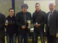 Churchill, Kerry Senior Scór Champions: John Flaherty, Paul Culloty, Micheal Gaynor and Alex O'Donnell, pictured with Christy Killeen, Kerry County Board Cultural Officer