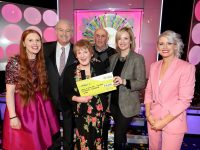 Miriam O'Sullivan from Oranbrook Park, London, UK has won €18,000 including a trip to Jamaica on last Saturday's (10th March 2018) National Lottery Winning Streak Game Show on RTE. Pictured here at the presentation of the winners cheques were from left to right: Miriam's daughter Mary O'Sullivan Mangan who played on her behalf;  Marty Whelan, Winning Streak game show co-host; Miriam O'Sullivan the winning recipient, husband David O'Sulllivan; Orla Roche, Head of Digital I Lottery at the National Lottery at the National Lottery and Sinead Kennedy, Winning Streak game show co-host.  The winning ticket was bought from Hegarty's Park Road, Killarney, Co. Kerry. Pic: Mac Innes Photography