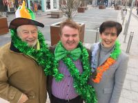 Johnnie Wall of the St Patrick's Day Parade Organising Team, Grand Marshal of this year's parade Dan Horan and Mayor of Tralee Norma Foley. Photo courtesy of John Drummey
