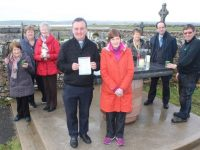 Launching the Easter Sunday Mass at Annagh Burial Ground were, in front, Fr Francis Nolan and Eileen Doyle. At back; Mary Scanlon, Anne Walsh, Breda Browne, Joan Trant, Donny Wynne and Brendan O'Brien of the Curraheen Liturgy Group. Photo by Dermot Crean