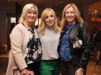 Annette Boyle, Teresa McKenna and Irene Costello at the Ardfert NS 'Lip Sing Battle' at Ballyroe Heights Hotel on Saturday night. Photo by Dermot Crean