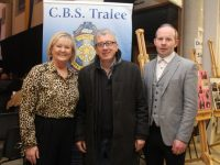 Principal of CBS The Green Anne O'Callaghan with Billy Keane and Mark Ryall at the production of 'Sive' at CBS The Green on Wednesday night. Photo by Dermot Crean