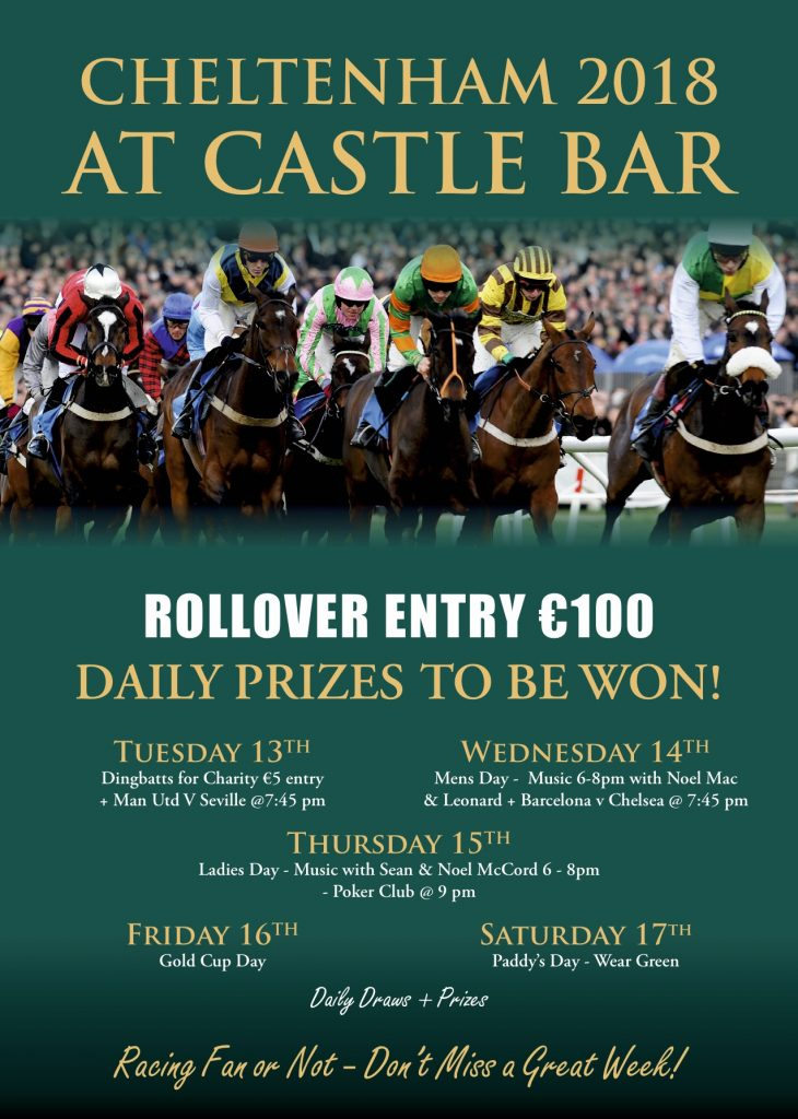 Thousands In Prizes To Be Won With The Castle Bar's Rollover