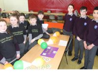 Coláiste Gleann Lí students taking part in the 'Pop-Up Gaeltacht'. Photo by Dermot Crean