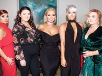 Stephanie Kerins, Emma McElligott, Leanne Walsh, Andrea Kerins and Tara O'Sullivan of Boutique at Ballyroe at the Connect Kerry Hair and Beauty Awards in The Rose Hotel on Sunday afternoon. Photo by Dermot Crean