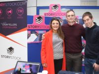 Sarah Garland, Francis Fitzgibbon and Daniel Batchelor of Storystock at the IT Tralee Enterprise Showcase on Friday. Photo by Dermot Crean