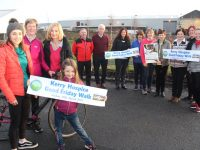 Launching the Kerry Hospice Good Friday walks around the county were, in front; athlete Shona Heaslip, Maura Sullivan, Radio Kerry's Deirdre Walsh and her daughter Olivia Crean. Back from left; Joe Hennebery (Tralee), Pat Doolan (Killarney, Michelle Jones (Killorglin), Eileen Sheehy (Listowel), Jenny Tarrant (Listowel), Mary O'Connor, Mary Shanahan, Breda O'Sullivan (Killorglin) and Andrea O'Donoghue (Tralee). Photo by Dermot Crean