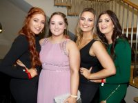 Louise McGillycuddy, Noreen O'Sullivan, Emily Fitzpatrick and Aoife O'Shea at the IT Tralee Nursing and Agri Students Ball at Ballyroe Heights Hotel on Thursday night. Photo by Dermot Crean